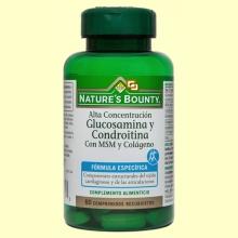 Glucosamina y Condroitina con MSM y Colágeno - 60 comprimidos - Nature's Bounty