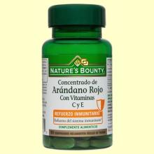 Concentrado de Arándano Rojo Con Vitaminas C y E - 60 comprimidos - Nature's Bounty