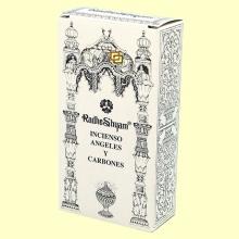 Incienso Ángeles y Carbones - 50 g + 10 uds - Radhe Shyam