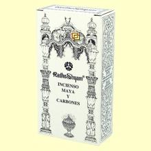Incienso Maya y Carbones - 50 g + 10 uds - Radhe Shyam
