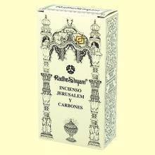 Incienso Jerusalem y Carbones - 50 g + 10 uds - Radhe Shyam