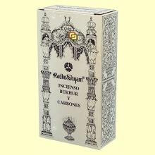 Incienso Bukhur y Carbones - 50 g + 10 uds - Radhe Shyam