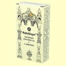 Incienso Pontifical y Carbones - 50 g + 10 uds - Radhe Shyam