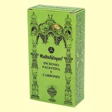 Incienso Palestina y Carbones - 50 g + 10 uds - Radhe Shyam