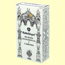 Incienso Sacramental y Carbones - 50 g + 10 uds - Radhe Shyam