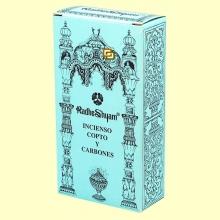 Incienso Copto y Carbones - 50 g + 10 uds - Radhe Shyam