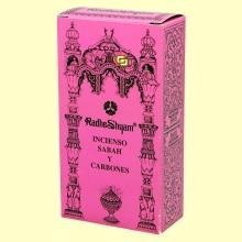 Incienso Sabah y Carbones - 50 g + 10 uds - Radhe Shyam