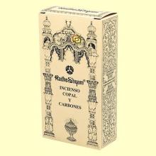 Incienso Copal y Carbones - 50 g + 10 uds - Radhe Shyam