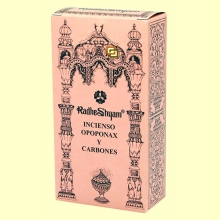 Incienso Opoponax y Carbones - 50 g + 10 uds - Radhe Shyam