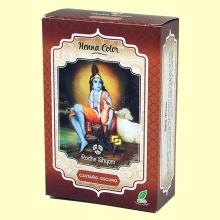 Henna Castaño Oscuro Polvo - 100 gramos - Radhe Shyam