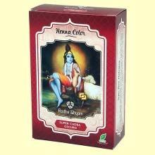 Henna Super Caoba Oscuro Polvo - 100 gramos - Radhe Shyam