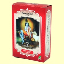 Henna Super Caoba Luminoso Polvo - 100 gramos - Radhe Shyam
