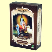 Henna Castaño Intenso Polvo - 100 gramos - Radhe Shyam