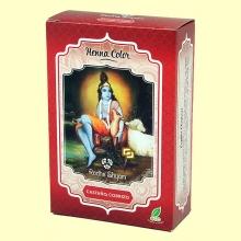 Henna Castaño Cobrizo Polvo - 100 gramos - Radhe Shyam
