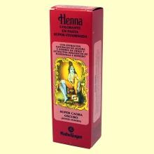 Henna Super Caoba Oscuro Pasta - 200 ml - Radhe Shyam