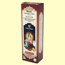 Henna Castaño Oscuro Pasta - 200 ml - Radhe Shyam