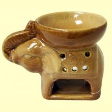 Quemador Elefante de una pieza de cerámica para aceites esenciales - Signes Grimalt