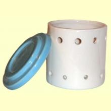 Quemador cerámica cilíndrico dos piezas de aceites esenciales - Sigris