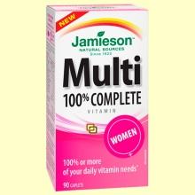 Multi 100% Complete Women - Suplemento Vitamínico - 90 cápsulas - Jamieson