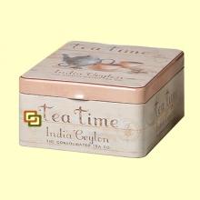 Lata para Guardar el Té de Cuatro Compartimentos Tea Time - 1 unidad - Cha Cult