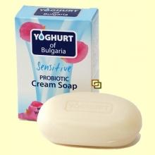 Jabón natural en pastilla con Probiótico - 100 gramos - Yogur de Bulgaria
