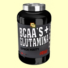 BCAAS + Glutamina Extrem Purity - Melocotón - 300 gramos - Mega Plus