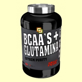 BCAAS + Glutamina Extrem Purity - Melocotón - 600 gramos - Mega Plus