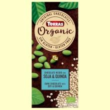 Chocolate negro Eco con soja tostada y quinoa hinchada - 100 gramos - Torras