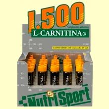 L-Carnitina 1500 - Sabor Naranja - 20 viales - Nutrisport