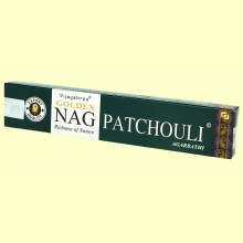 Incienso Golden Nag Patchouli - 15 gramos - Vijayshree