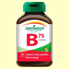 B Complex 75 mg - Complejo Vitamina B - 90 comprimidos - Jamieson