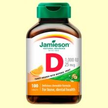 Vitamina D3 25mcg Naranja - 100 comprimidos - Jamieson