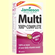 Multi 100% Complete Women +50 - Suplemento Vitamínico - 90 cápsulas - Jamieson