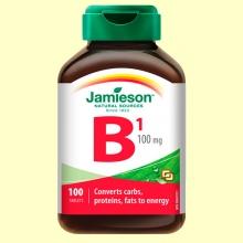 Vitamina B1 (Tiamina) 100 mg - 100 comprimidos - Jamieson