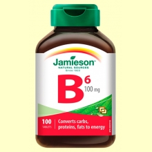Vitamina B6 (Piridoxina) 100 mg - 100 comprimidos - Jamieson