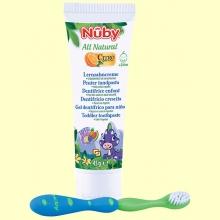 Pasta de Dientes para Niños Sabor Tutti Frutti + Cepillo Dental - 45 gramos - Nuby