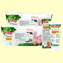 Pack 160 toallitas higiénicas para Bebés + Crema para la dermatitis del Pañal 60 gramos