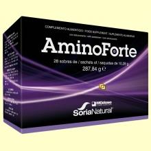 AminoForte - Aminoácidos vegetales - 28 sobres- MGdose