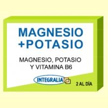 Magnesio + Potasio - 60 cápsulas - Integralia
