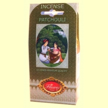 Incienso Cono Patchouli - Flaires - 12 conos