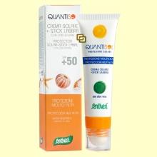 Crema Solar + Stick Muy Alta SPF 50 - Quantisol - 30 ml + 5 ml - Santiveri