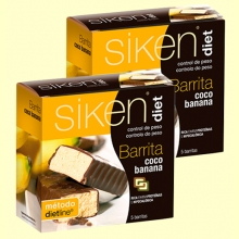 Oferta 2ª unidad 50% dto - Barrita de Coco y Banana - 5 barritas - Siken Diet *