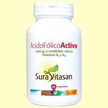 Ácido Fólico Activo - 60 comprimidos - Sura Vitasan