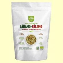 Mezcla de Semillas de Cáñamo y Sésamo con Kale, Cebolla y Tomate - 200 gramos - Eco Canem *