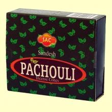 Pachouli - Inciensos India - 10 conos - SAC