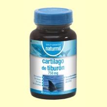 Cartílago de Tiburón 750mg - 45 cápsulas - Naturmil