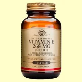 Vitamina E 268 mg 400 UI - 50 cápsulas - Solgar