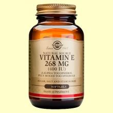 Vitamina E 268 mg 400 UI - 250 cápsulas - Solgar