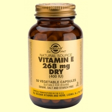 Vitamina E Seca 268 mg 400 UI - 50 cápsulas vegetales - Solgar