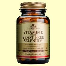 Vitamina E con Selenio sin Levadura - 100 cápsulas - Solgar